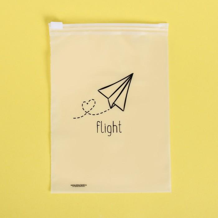 Пакет-слайдер матовый с принтом Flight, 9 × 16 см - фото 7104