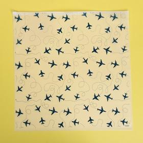 Пакет-слайдер матовый с принтом «Самолёты», 40 × 40 см
