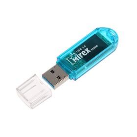 Флешка Mirex ELF BLUE, 128 Гб, USB3.0, чт до 140 Мб/с, зап до 40 Мб/с, синяя