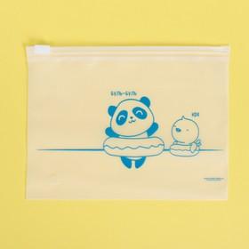 Пакет-слайдер матовый с принтом «Купаться!», 16 × 9 см