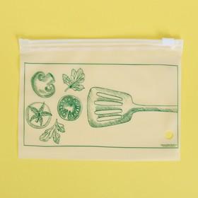 Пакет-слайдер матовый с принтом «Вкус настроения», 16 × 9 см