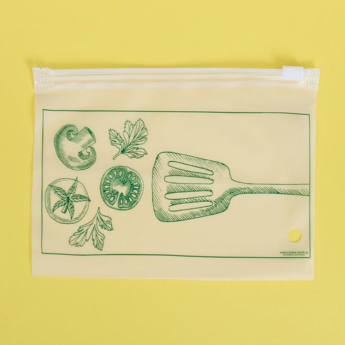 Пакет для хранения еды горизонтальный «Вкус настроения», 16 × 9 см