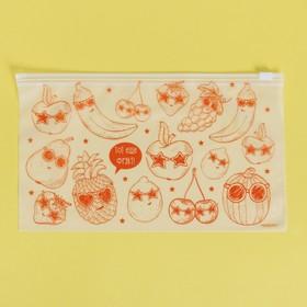 Пакет-слайдер матовый с принтом «Тот ещё фрукт», 25 × 14.5 см