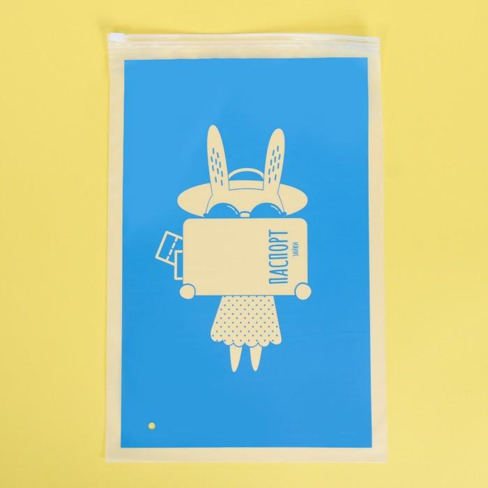 Пакет для хранения вещей «Зайка», 24 × 36 см