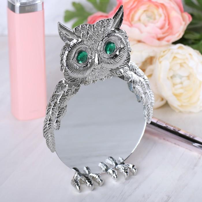 """Зеркало  """"Совушка"""", 10,2 х 10,2 см"""
