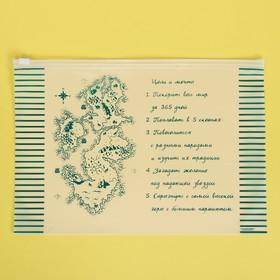 Пакет-слайдер матовый с принтом «Цели и мечты», 29 × 20 см