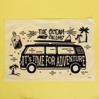 Пакет-слайдер матовый с принтом Time for adventure, 36 × 24 см - фото 7164