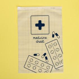 Пакет-слайдер матовый с принтом Medicine chest, 20 × 29 см