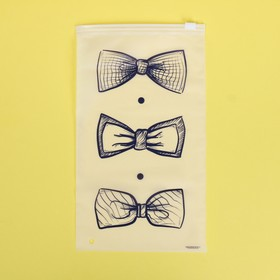 Пакет-слайдер матовый с принтом Bow Tie, 14.5 × 25 см