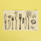 Пакет-слайдер матовый с принтом «Шедевры кулинарии», 25 × 14.5 см - фото 7176