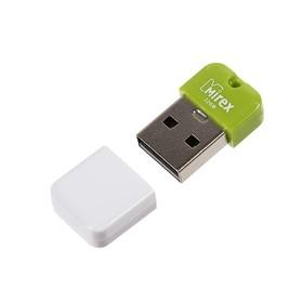 Флешка Mirex ARTON GREEN, 32 Гб, USB2.0, чт до 25 Мб/с, зап до 15 Мб/с, белая-зеленая