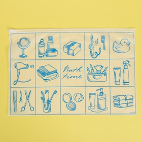 Пакет-слайдер матовый с принтом Bath time, 36 × 24 см