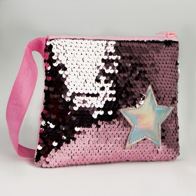 """Baby bag """"Star"""" with sequins, the color pink"""