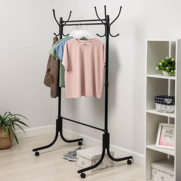 Вешалка гардеробная 116×76,5×174 см, цвет чёрный
