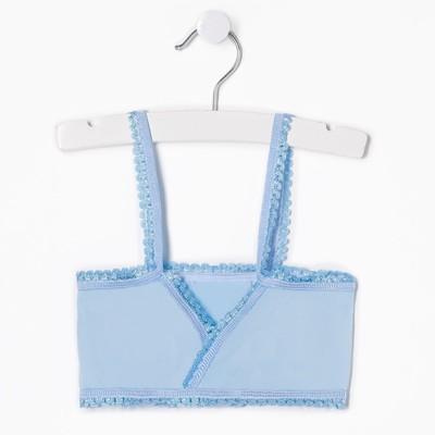 Майка (лиф) для девочки, цвет голубой, рост 128-134 см