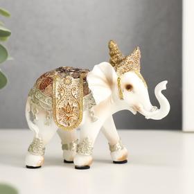 "Сувенир полистоун ""Белый слон Махараджи в богатой попоне"" 8,5х10х3,7 см в Донецке"