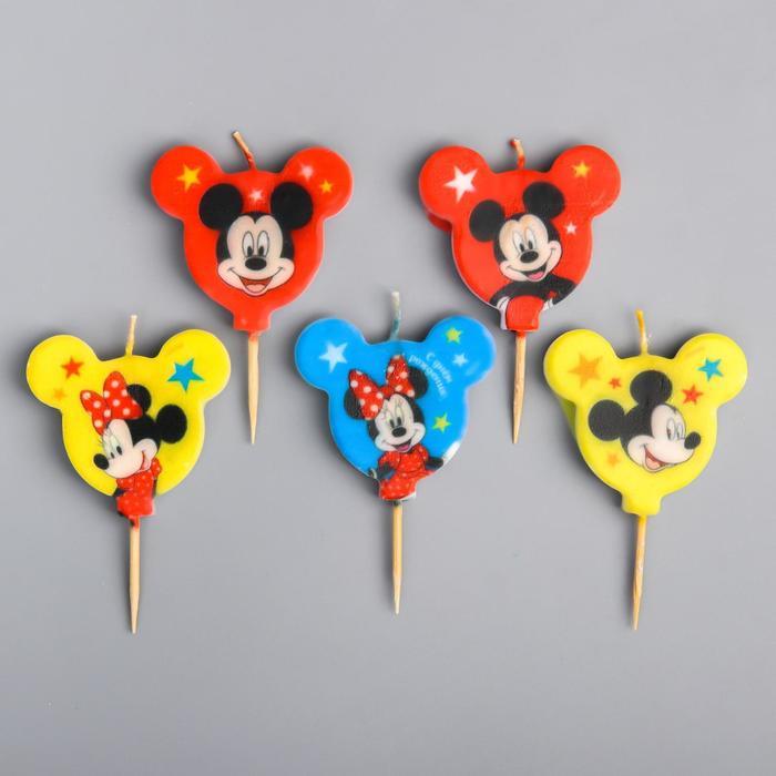 Свеча в торт набор, Микки Маус и его друзья - фото 186605466