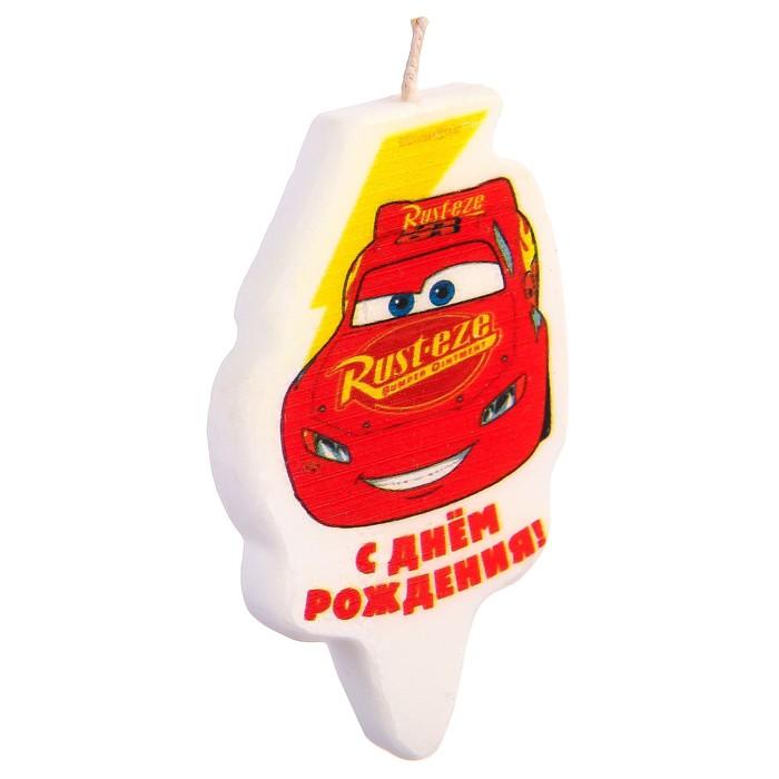 """Свеча в торт """"С Днем Рождения!"""", Тачки - фото 35610142"""