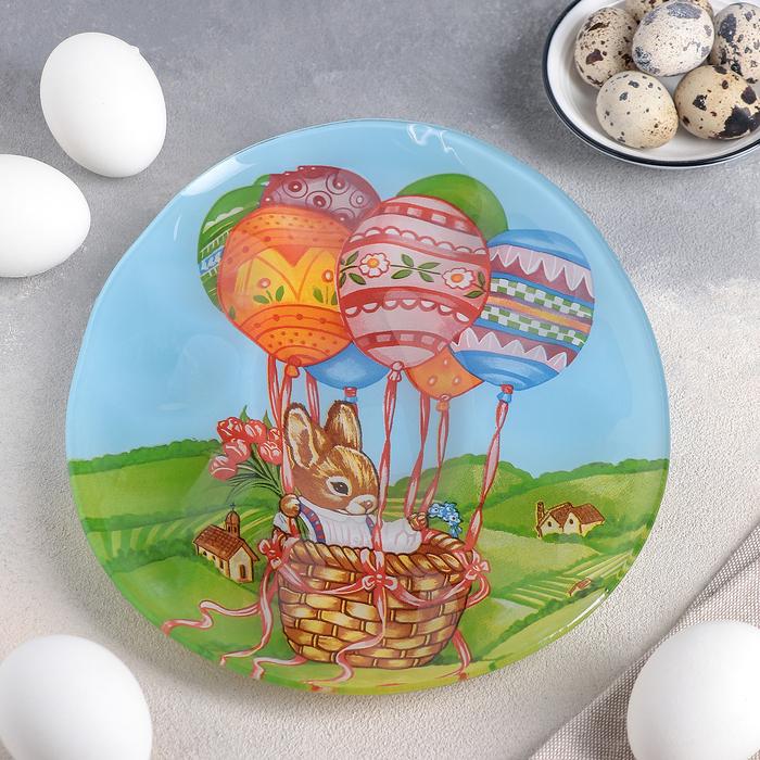 Подставка для яиц Доляна «Пасхальный кролик», d=21 см, 10 ячеек - фото 658375