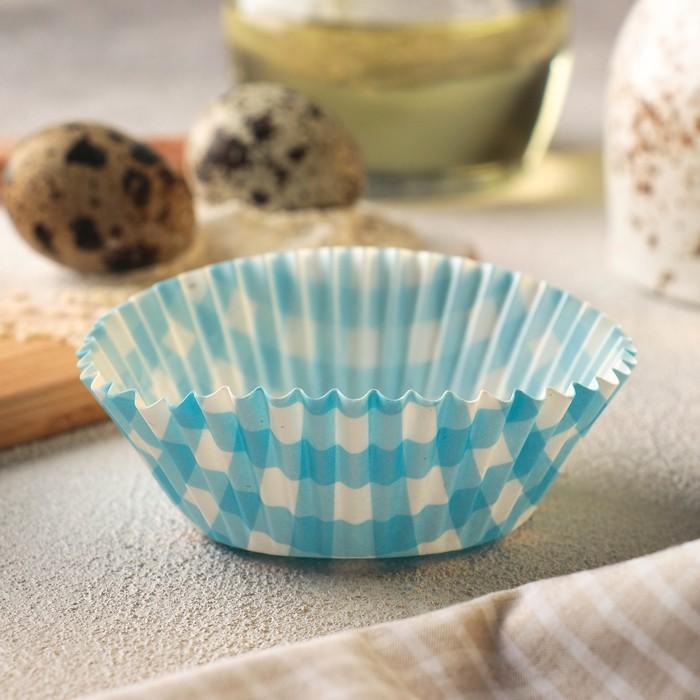 Форма для кекса, цвет МИКС, 50 шт, d5 см