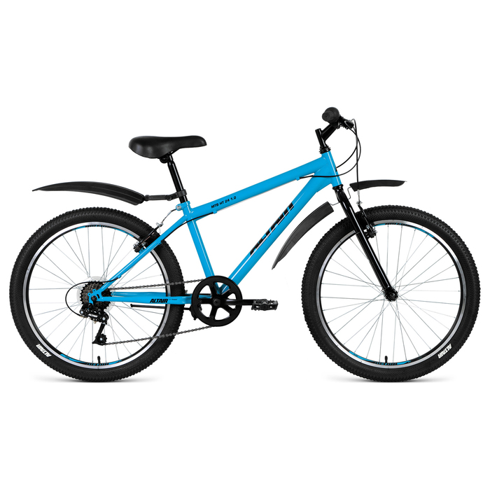 """Велосипед 24"""" Altair MTB HT 24 1.0, 2019, цвет бирюзовый, размер 14"""""""