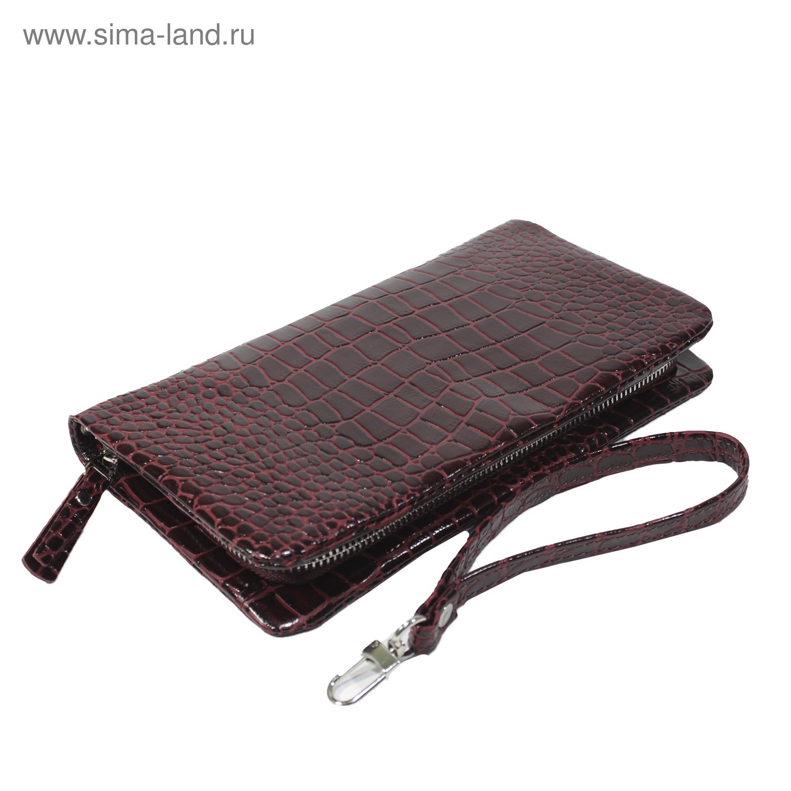 dc394c194486 Клатч женский, на молнии, с ручкой, цвет бордовый (4263557) - Купить ...