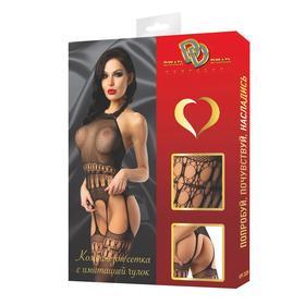 Catsuit erotic mesh costume with imitation stocking
