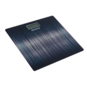 Весы напольные MARTA MT-1677, электронные, до 180 кг, черный алюминий