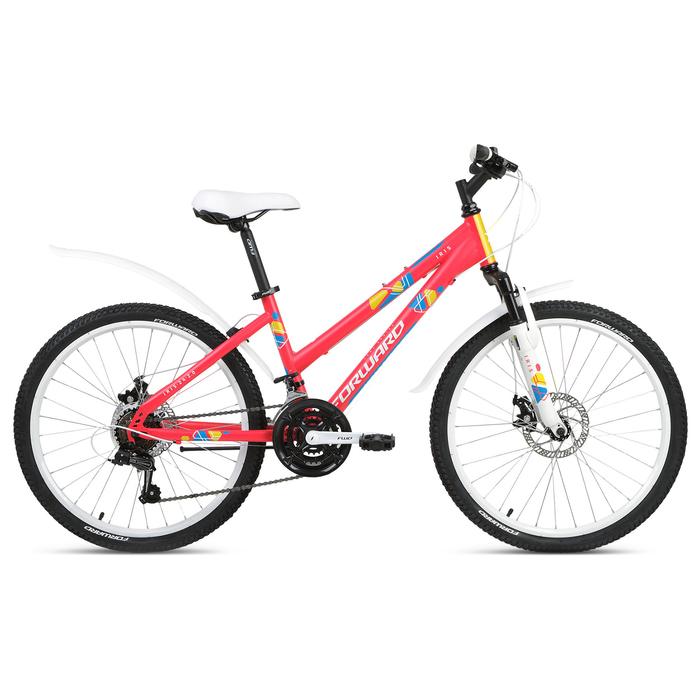 """Велосипед 24"""" Forward Iris 2.0 disc, 2019, цвет розовый матовый, размер 13"""""""