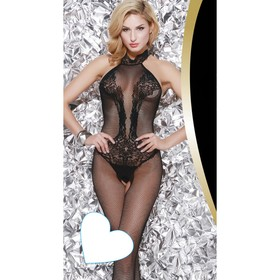 Catsuit mesh jumpsuit with open back