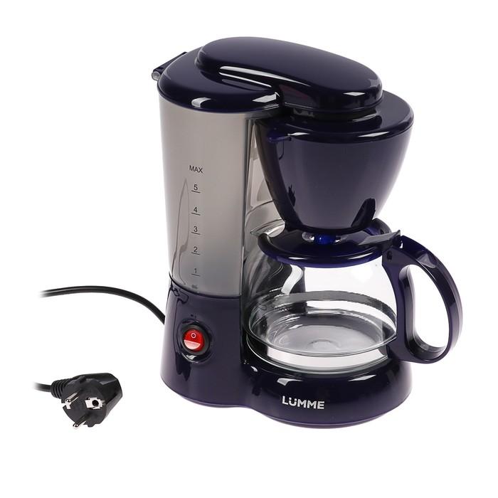Кофеварка LUMME LU-1603, капельная, 550 Вт, 0.6 л, синяя