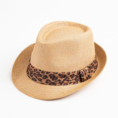 "Шляпа женская MINAKU ""Леопард"", размер 56-58, цвет коричневый"