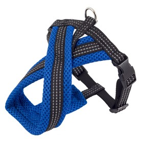 Шлейка Х-образная, 34-45 х 1,5 см, нейлон, мягкая подкладка 2,6 см, синяя
