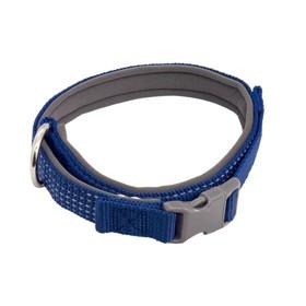 """Ошейник """"Премиум"""" светоотражающий, неопреновый подклад, ОШ 58-75 х 3,5 см, нейлон, синий"""