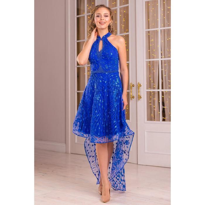 Платье женское MINAKU, цвет синий, размер 42