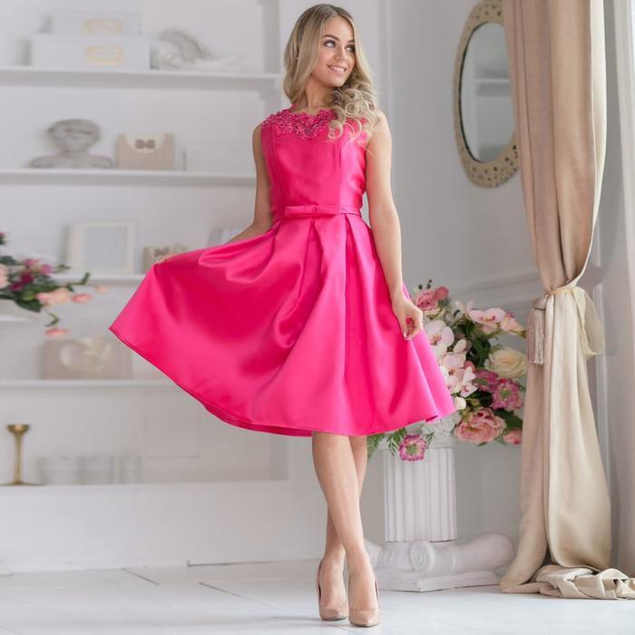 Платье женское MINAKU, цвет фуксия, размер 42