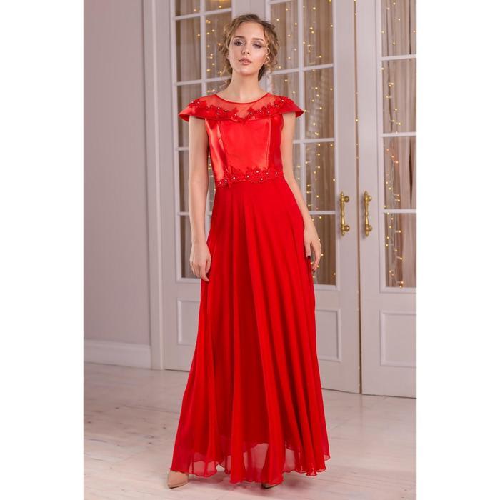 Платье женское MINAKU, цвет красный, размер 42