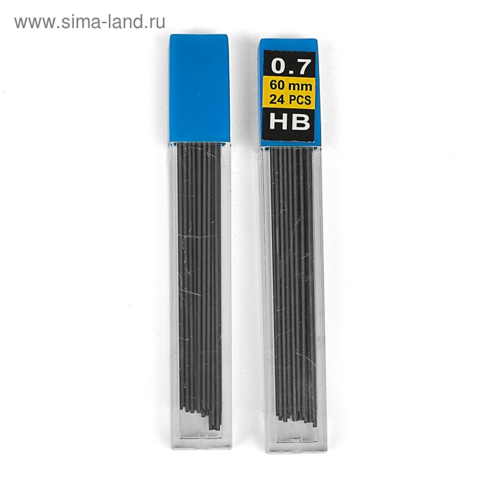 Грифели для механических карандашей НВ (0,7мм, 24 шт.)