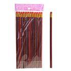 Набор карандашей чернографитных с ластиками 12шт НВ красно-черная полоска