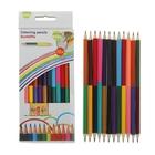 Карандаши 12 штук - 24 цвета, двухцветные