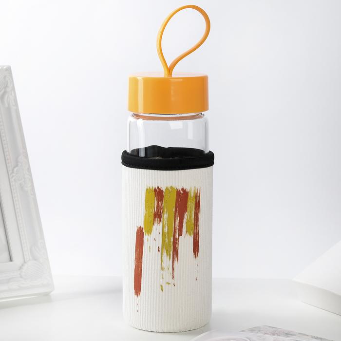 """Бутылка в чехле 400 мл """"Краска"""", рисунок МИКС"""