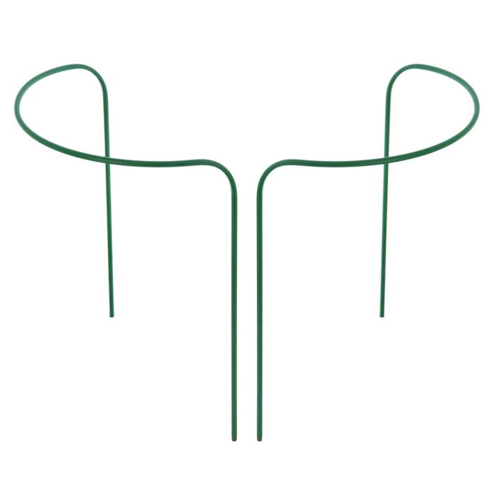 Кустодержатель, d = 40 см, h = 120 см, ножка d = 1 см, металл, набор 2 шт., зелёный