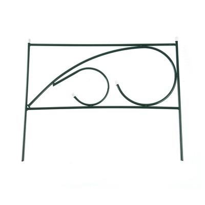 Ограждение декоративное, 50 × 300 см, 5 секций, металл, «Росток»