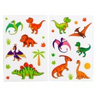 Набор наклеек с раскраской «Динозавры», 14.5 х 21 см в наличии - фото 106109130