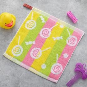 Полотенце Крошка Я «Леденцы» цвет розовый 26×26 см, 100% хлопок Ош