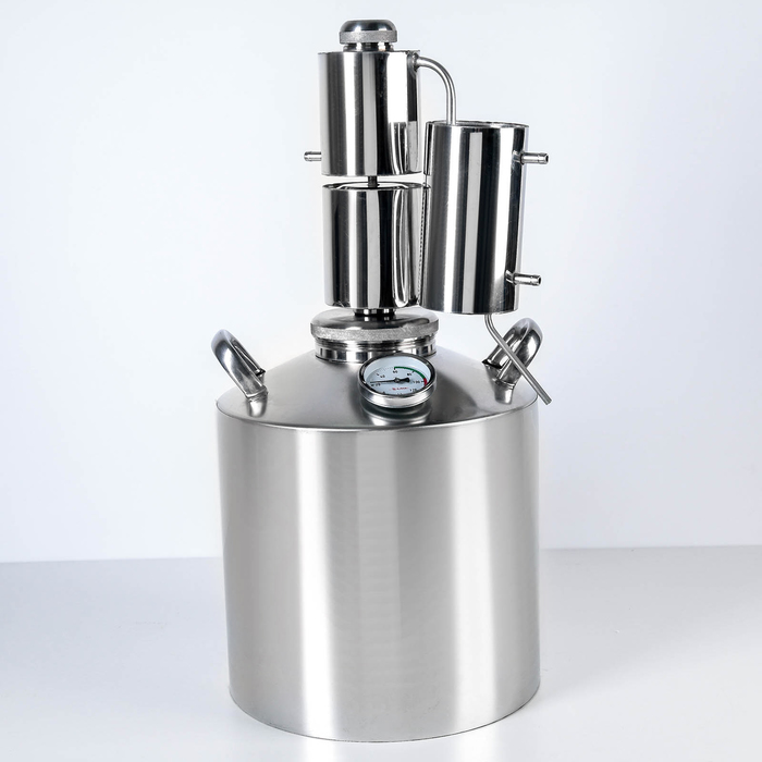 "Дистиллятор 16 л ""Лидер-5"", горло 10 см, клапан"