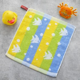 Полотенце Крошка Я «Рыбки» цвет синий 26×26 см, 100% хлопок Ош