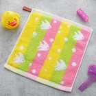 Полотенце Крошка Я «Рыбки» цвет розовый 26×26 см, 100% хлопок