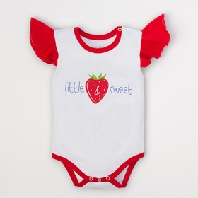 "Боди Крошка Я ""Strawberry. Little & sweet"", белый, р. 28, рост 86-92 с�"