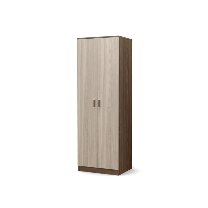 Шкаф 2-х створчатый малый с полками Эксон 676х518х2000 ясень шимо темный/ясень шимо светлый   425850